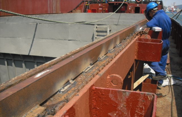 Repair of hatch cover rails