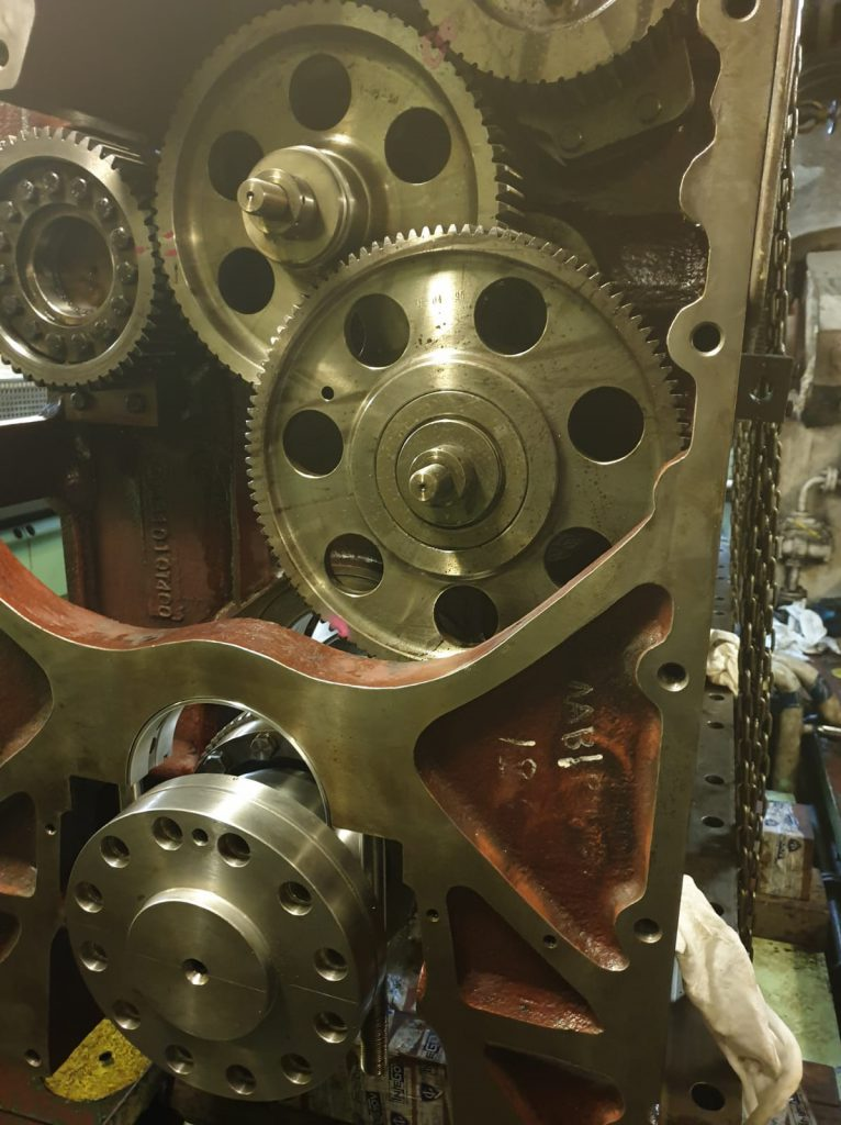 control for maing engine gears