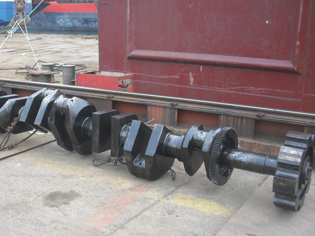 crankshaft replacement at shipyard