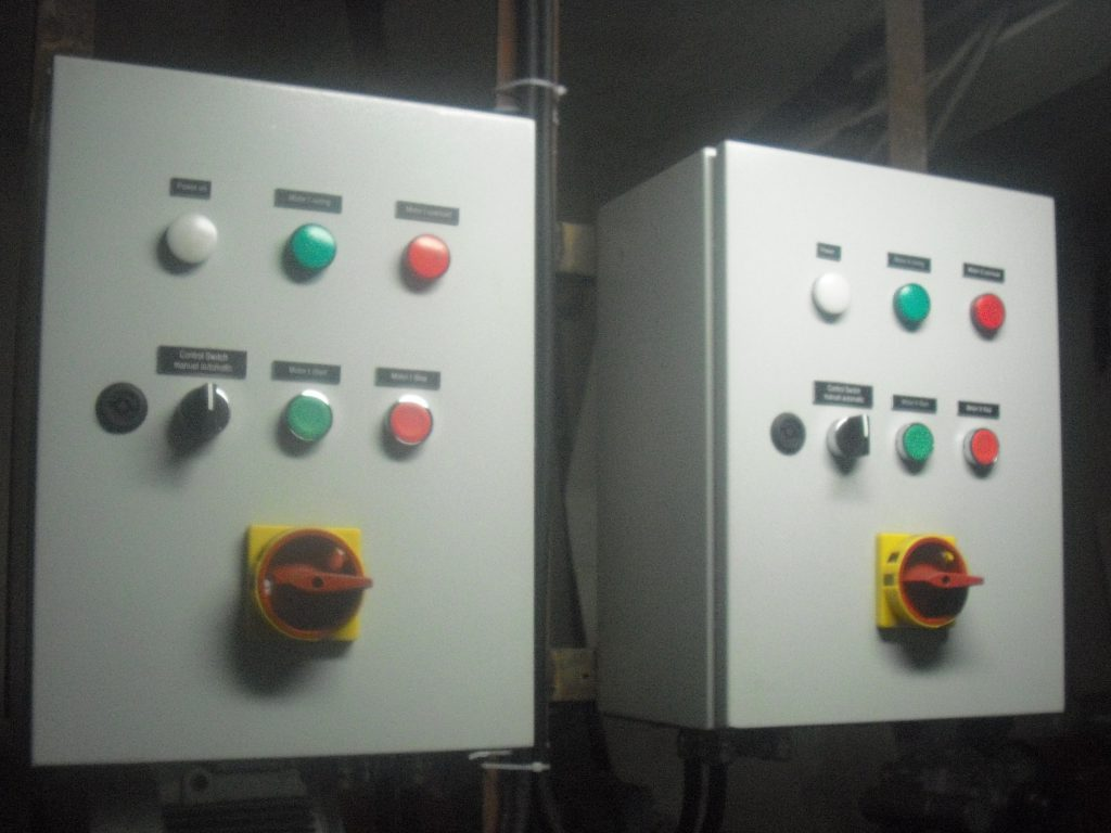 elextric control boxes for motors