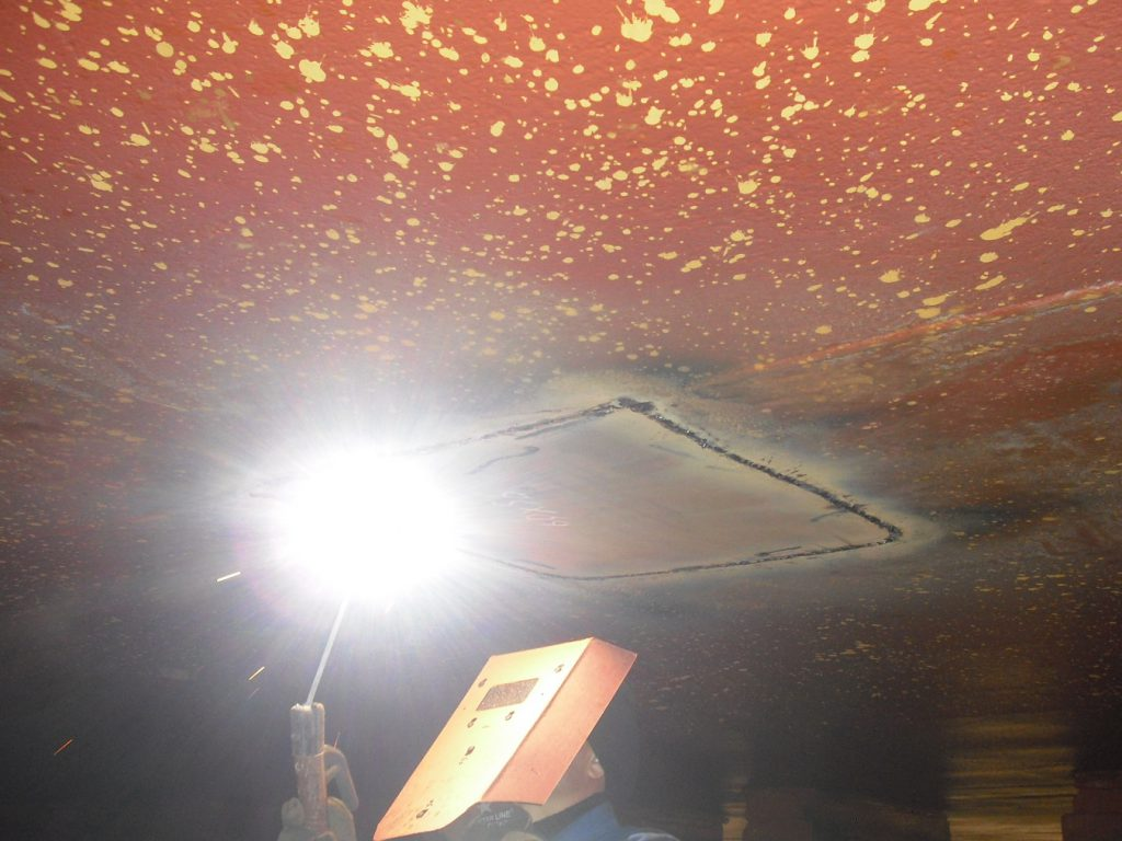 insert welding overhead position