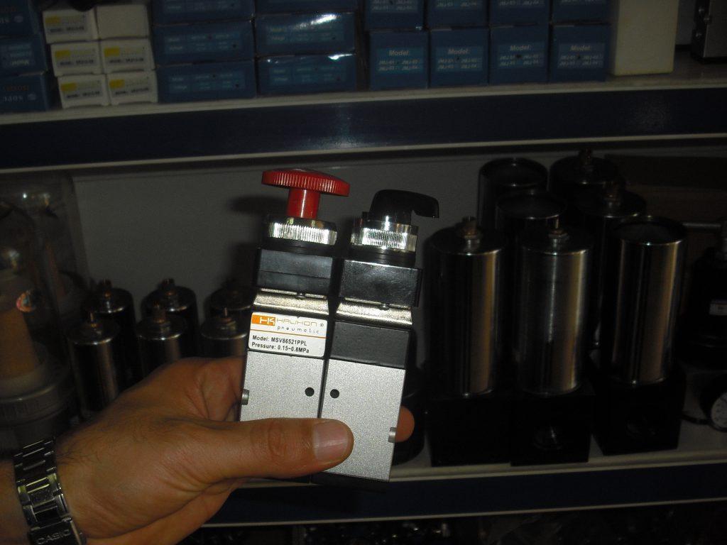 pneumatic button valves