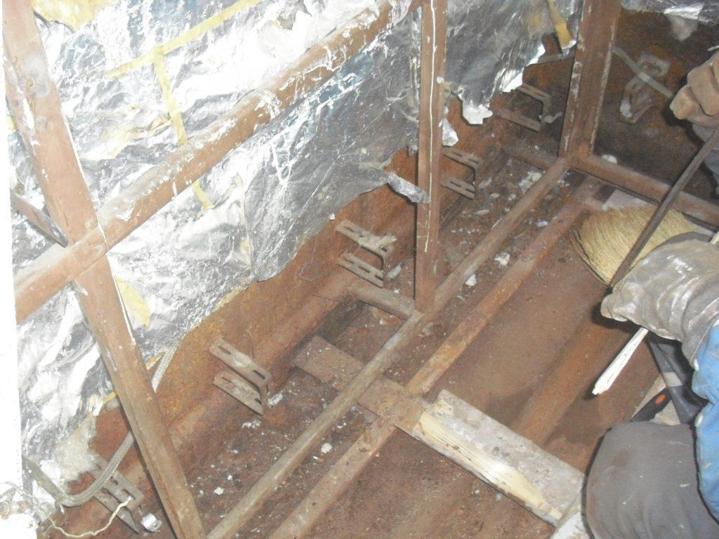remove of cabin marine insulation
