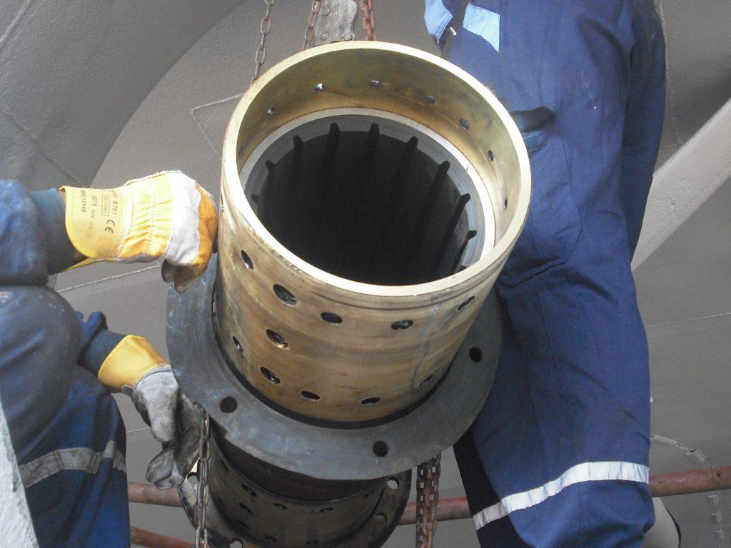 rubber bearing for shaft
