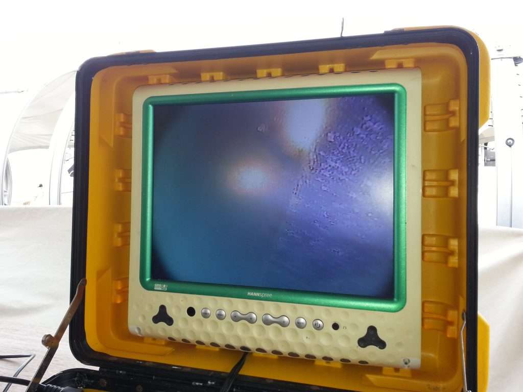 underwater bottom survey diving monitor