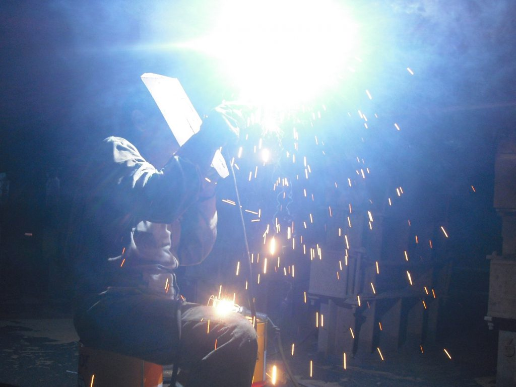 welding at shipyard