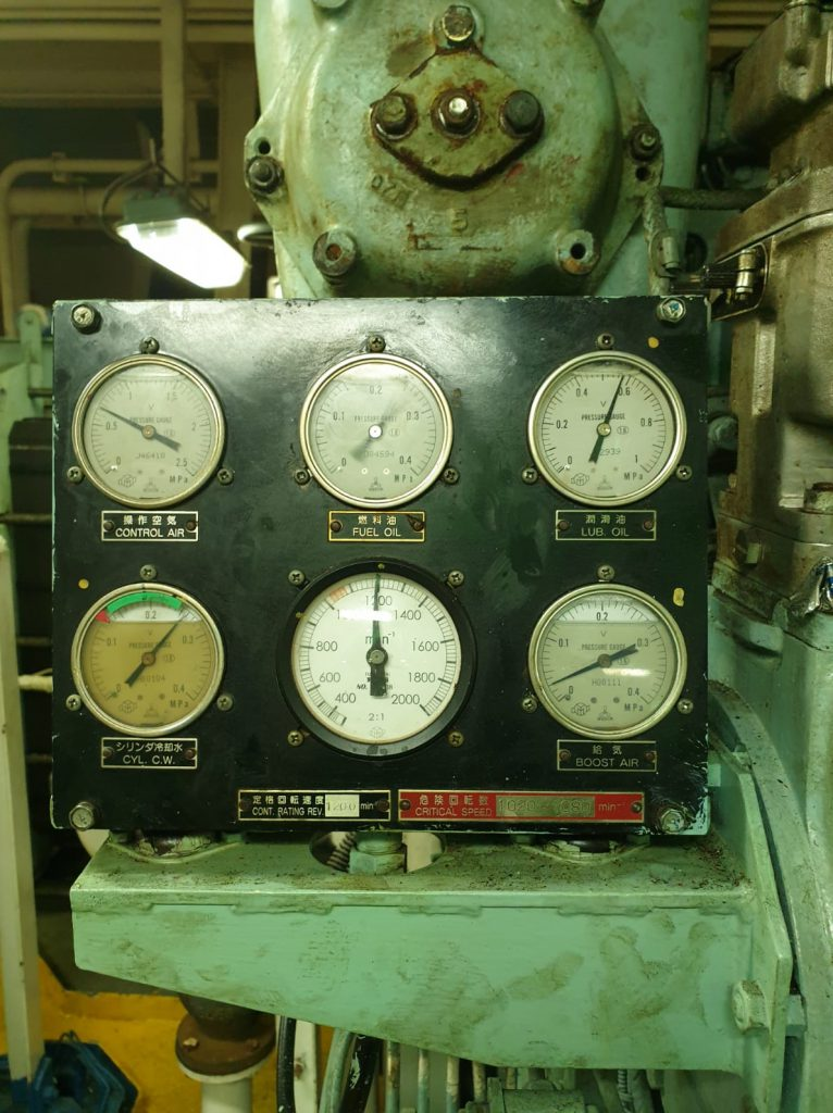 yanmar main engine instrument panel